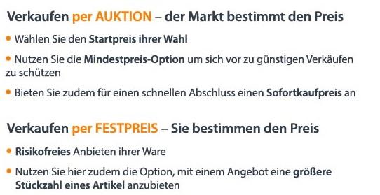 Auctronia Verkaufsoptionen