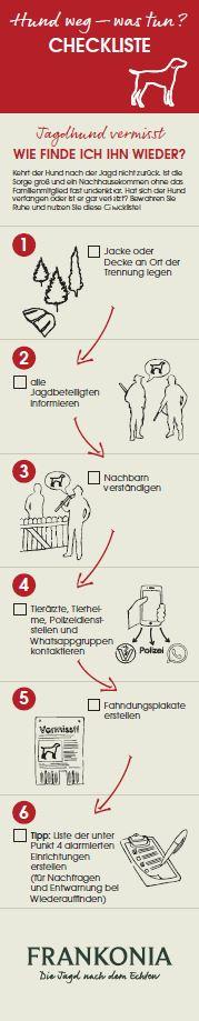 Hund weg - was tun? Praktische Checkliste zum Ausdrucken, wenn ihr Vierbeiner verschwunden ist.