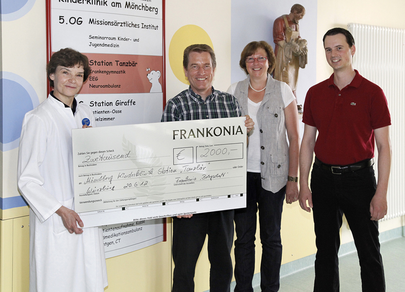 FRANKONIA spendet für Spezialstation \